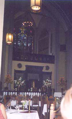 front alter area